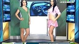 Busty Aria masturbates in naked sexy dress