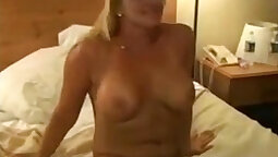 Cute blonde gets double creampie for bbc