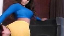 Tight Ass Latina Dominates big black dick