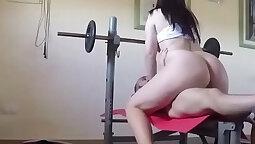 Metro Nathalia Rayne Hot Gym Striptease