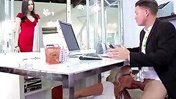 Busty Office Slut Gets Fucked By Strangers