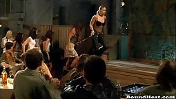cock lover slave is the master of taking her mistress to the dungeon