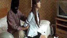 Chinese Maid Nikita fabulous teaching & bondage blowjob