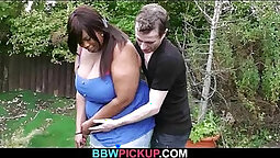 BBW Spreads her Legs For Horny Black Cock