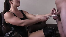 CFNM femdom bimbos sucking and having fun