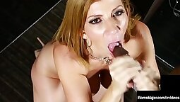Naked BigTitted Ebony Latina Milf fucks with BigFatPony