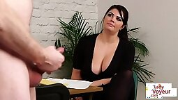 hot voyeur British big tit slut