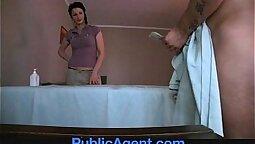 Horny MILF Sarah Blank cums to robber