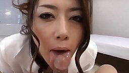 self submitted japanese girl pov blowjob by a sexy pornstar