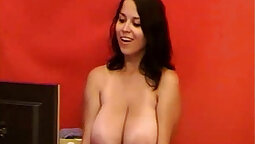 RIDICULOUS Horny Wife With Nice Boobs On Webcam Sex