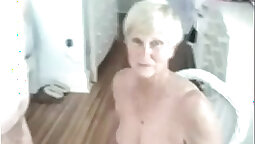 Granny Blows Him Off and His Cock