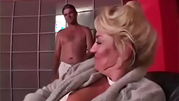 Big tits grandma stretching her tight pussy exposed for you