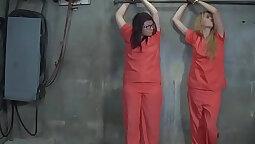 Beautiful blindfolded babe gets punished