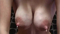 Breasty mamma girls playing with hard dick